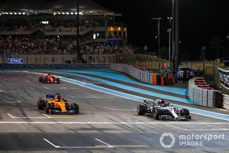 Льюіс Хемілтон, Mercedes AMG F1 W09, Фернандо Алонсо, McLaren MCL33, Себастьян Феттель, Ferrari SF71H
