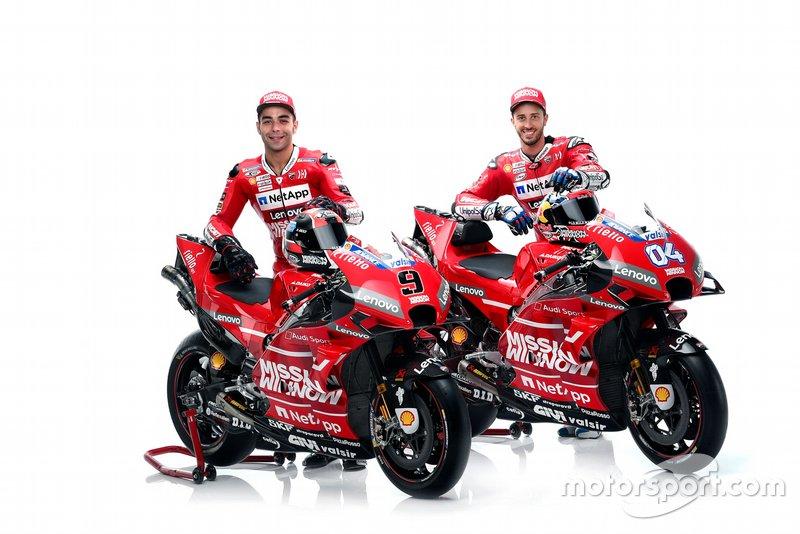 Andrea Dovizioso and Danilo Petrucci, Ducati Team