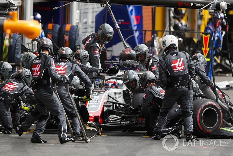 Pit stop Romain Grosjean, Haas F1 Team VF-18