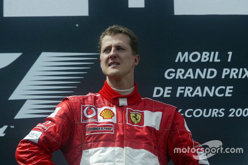 Podyum: Yarış galibi Michael Schumacher, Ferrari