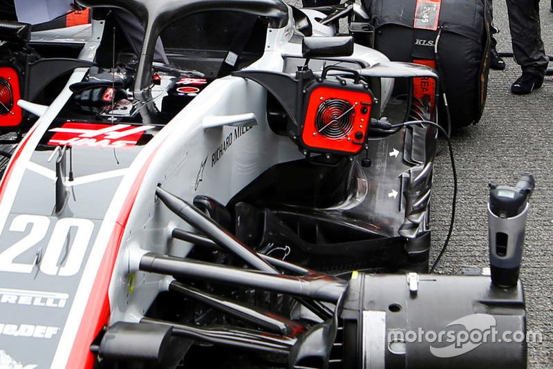 Piso del Haas F1 Team VF-18