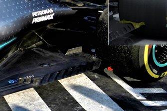 Mercedes AMG F1 W10 floor