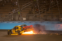 Brendan Gaughan, Richard Childress Racing Chevrolet on fire