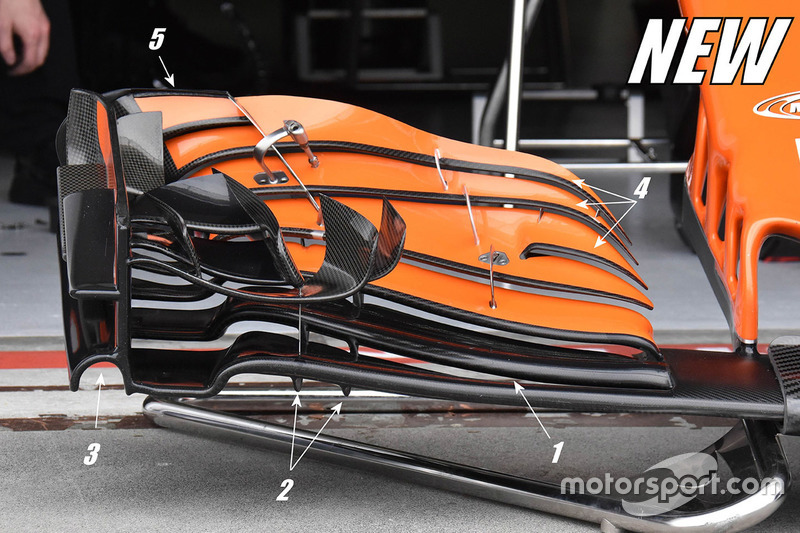 McLaren MCL32: neuer Frontflügel
