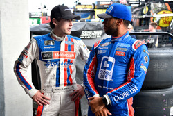 Ryan Blaney, Team Penske Ford and Darrell Wallace Jr., Roush Fenway Racing Ford