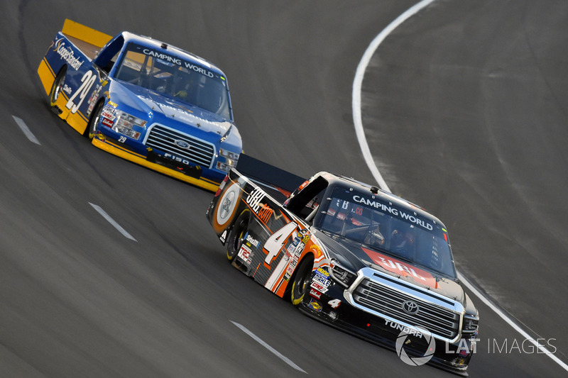 Christopher Bell, Kyle Busch Motorsports Toyota and Chase Briscoe, Brad Keselowski Racing Ford