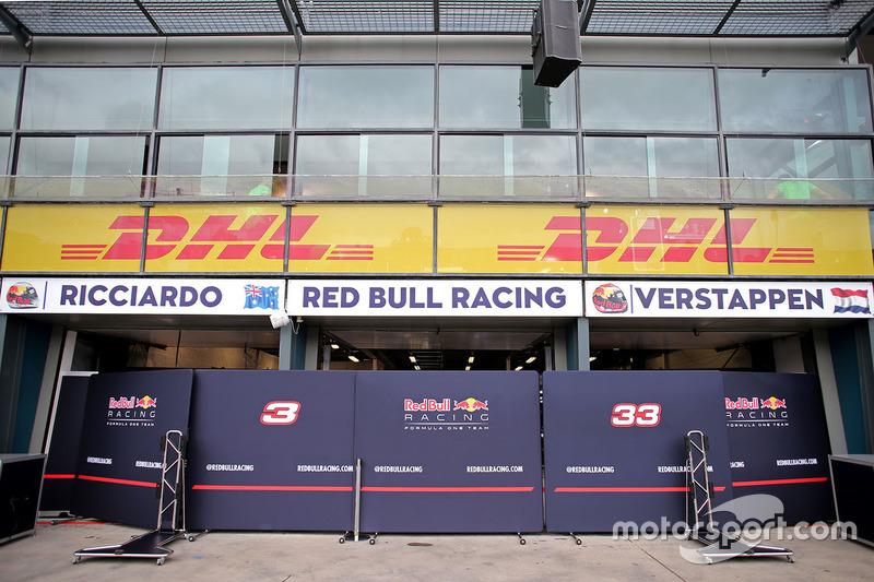 Box von Red Bull Racing
