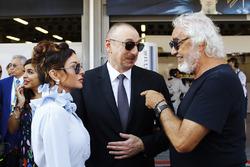 President of Azerbaijan Ilham Aliyev and First Lady Mehriban Aliyeva, Flavio Briatore
