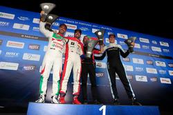 Подиум: второе место – Тьягу Монтейру, Honda Racing Team JAS, победитель Меди Беннани, Sébastien Loeb Racing, третье место – Тед Бьорк, Polestar Cyan Racing