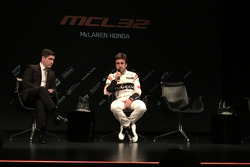 Simon Lazenby with Fernando Alonso, McLaren
