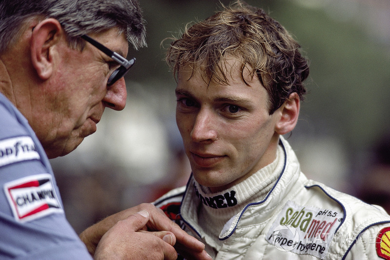 Stefan Bellof with team boss Ken Tyrrell