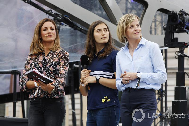 Татьяна Кальдерон, Sauber F1, Наталі Пінхем, Sky Sports F1, Сьюзі Вольфф, Channel 4 F1