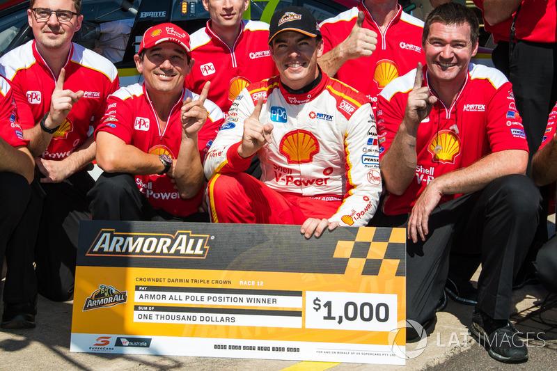 Polesitter Scott McLaughlin, Team Penske Ford, mit Ludo Lacroix, Team Penske, Chefingenieur