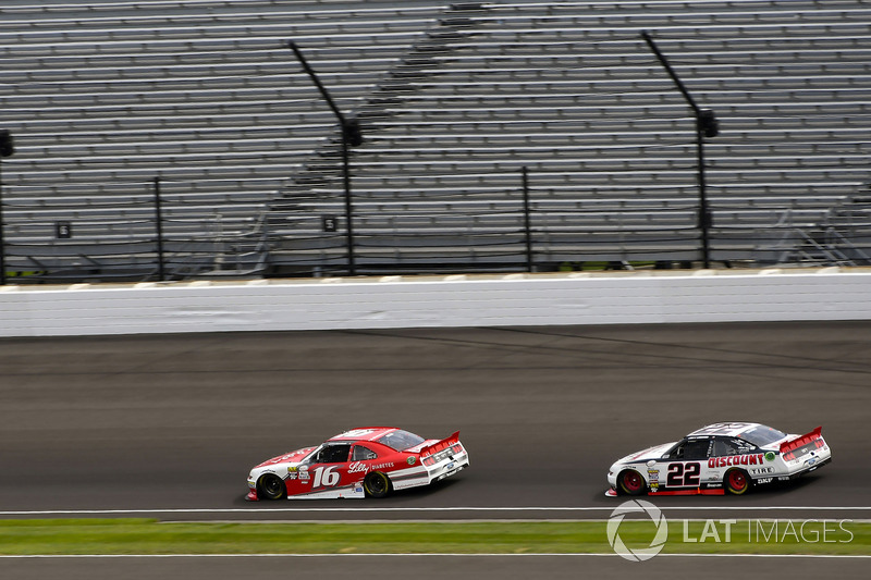 Ryan Reed, Roush Fenway Racing Ford y Joey Logano, Team Penske Ford
