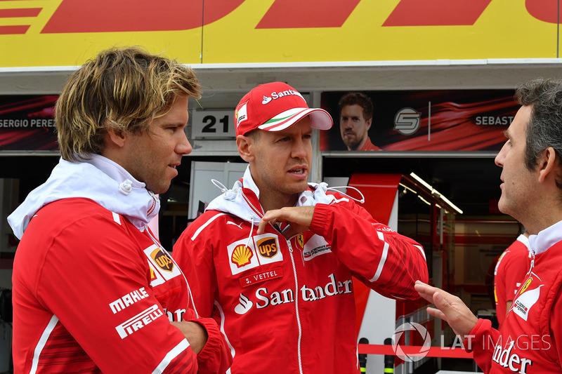 Sebastian Vettel, Ferrari con su entrenador Antti Kontsas