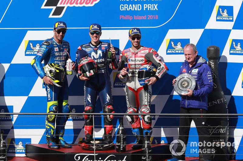 Maverick Viñales, Yamaha Factory Racing, Andrea Iannone, Team Suzuki MotoGP, Andrea Dovizioso, Ducati Team