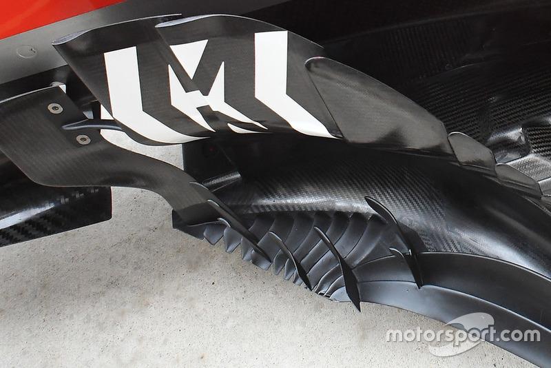 Detail bargeboard Ferrari SF71H