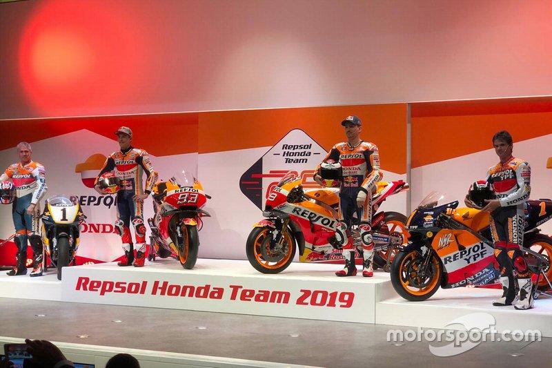Мік Дуен, Алекс Крівілл, Марк Маркес та Хорхе Лоренсо, Repsol Honda Team