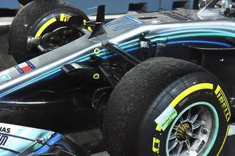 Auto van Valtteri Bottas, Mercedes AMG F1 W09 EQ Power+ in parc ferme