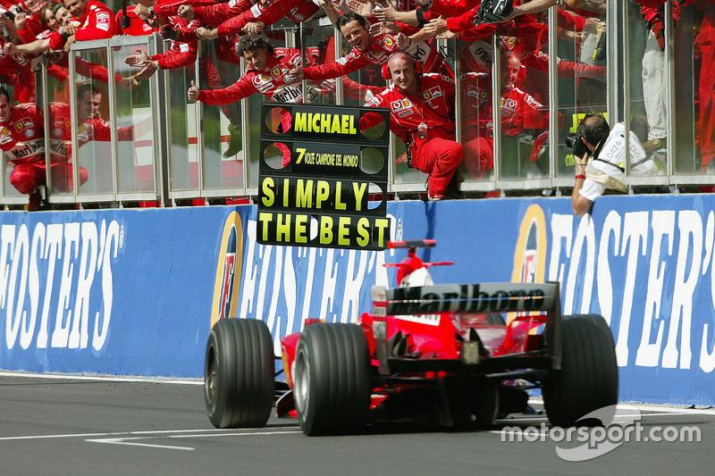 2. Platz und 7. WM-Titel für Michael Schumacher, Ferrari