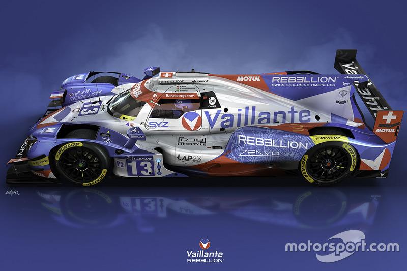 Oreca 07 von Vaillante Rebellion Racing im neuen Design