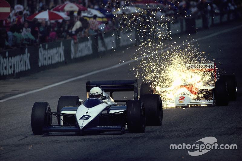 Andrea de Cesaris, Brabham, Stefan Johansson, McLaren
