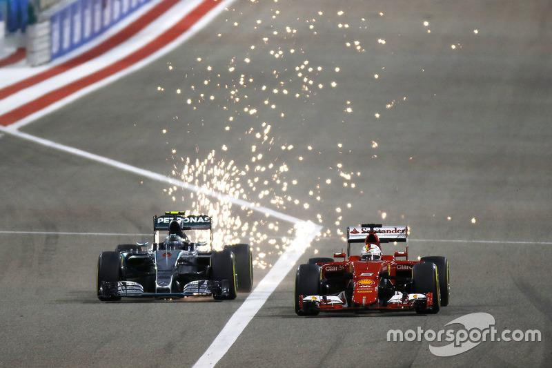 По2 раза на поуле в Бахрейне были Себастьян Феттель иЛьюис Хэмилтон(а также Михаэль Шумахер и Нико Росберг)