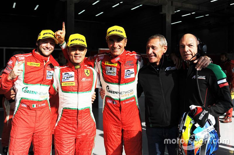 GTE winnaars Gianluca Roda, Giorgio Roda, Andrea Bertolini, Graff Racing
