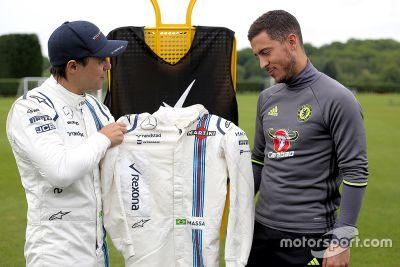 Speciale ontmoeting tussen Felipe Massa en Eden Hazard