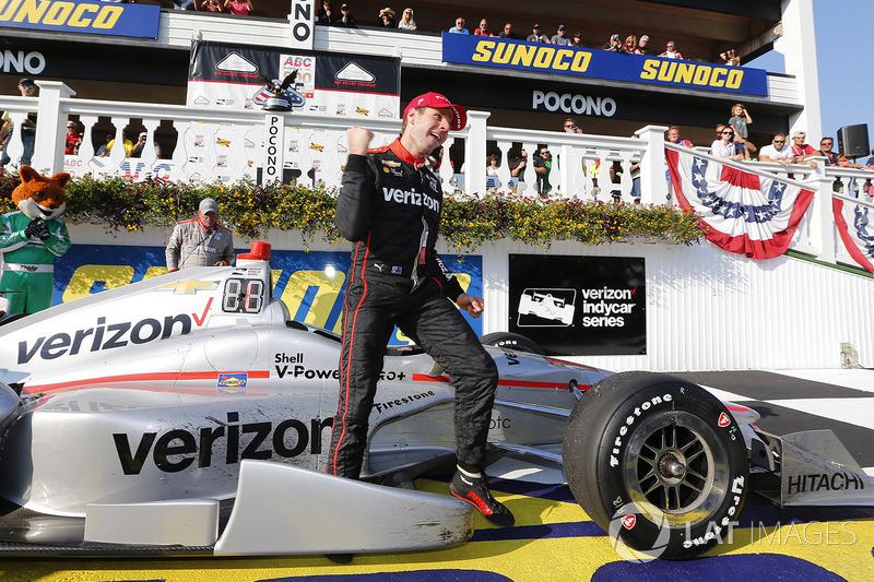 Will Power venceu em Pocono pela segunda vez seguida e agora ocupa o quinto lugar na classificação. Josef Newgarden lidera a Indy de 2017.