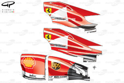 Ferrari F138 engine covers and side pod assembly