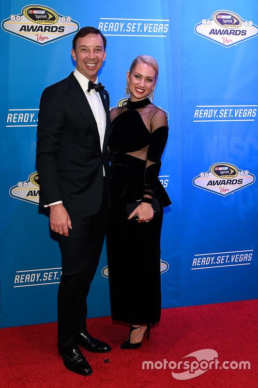 Jefe de equipo Chad Knaus y su esposa Brooke Werner