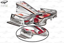 McLaren MP4-23 2008 Monza front wing comparison