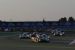 Start: #8 Audi Sport Team Joest Audi R18: Lucas di Grassi, Loic Duval, Oliver Jarvis leads