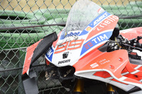 La moto incidentata di Jorge Lorenzo, Ducati Team