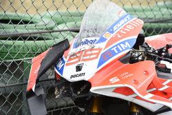 Bike von Jorge Lorenzo, Ducati Team, nach Crash