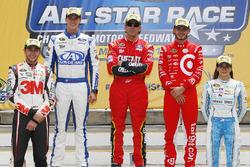 Ins All-Star-Race eingezogen: Chase Elliott, Trevor Bayne, Greg Biffle, Kyle Larson und Danica Patrick