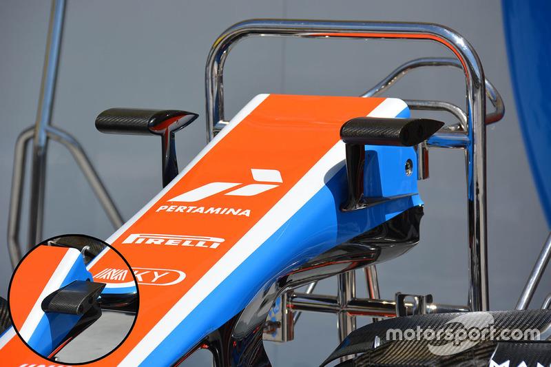 Manor Racing camera mounts detail