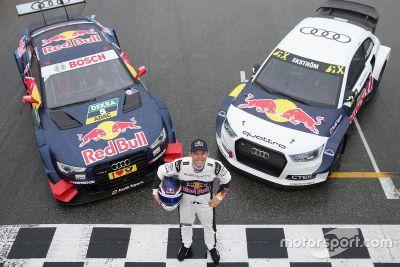 ماتياس إكستروم مع سيارتي دي تي إم وبطولة العالم للرالي كروس