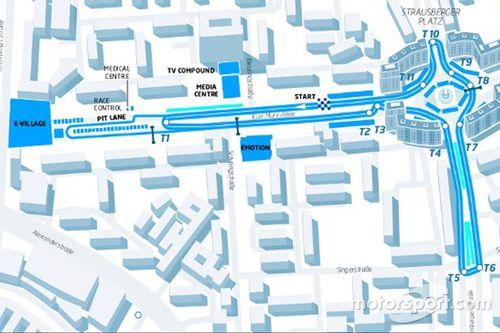 Mapa del ePrix de Berlin