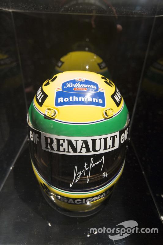 El casco de Ayrton Senna