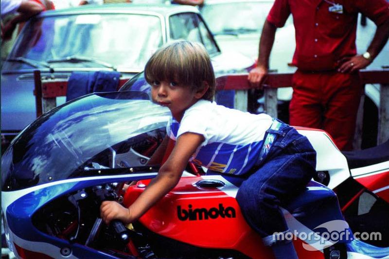 Валентино Росси на мотоцикле отца. Начало 80-х