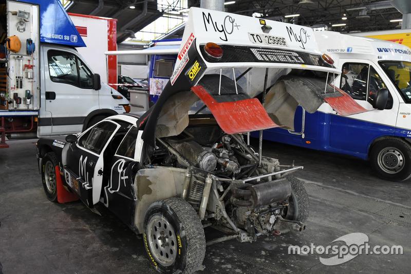La Lancia Rally 037 di Marco Bianchini nel paddock