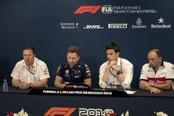 Zak Brown, McLaren Racing CEO, Christian Horner, Red Bull Racing Team Principal, Toto Wolff, Mercedes AMG F1 Director of Motorsport and Frederic Vasseur, Sauber, Team Principal in the Press Conference
