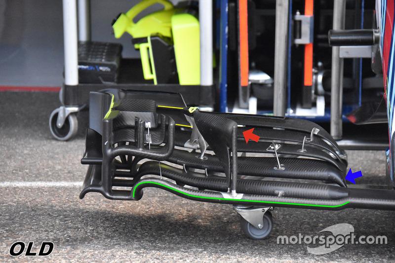 Переднее крыло Williams FW41 (старая версия)