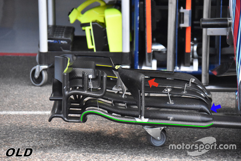 Williams FW41 detalle ala delantera