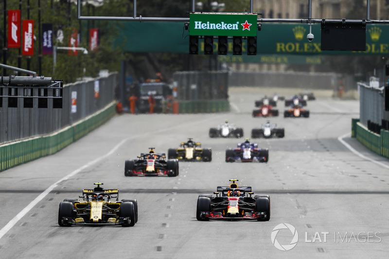 Карлос Сайнс-мол., Renault Sport F1 Team R.S. 18, Макс Ферстаппен, Red Bull Racing RB14