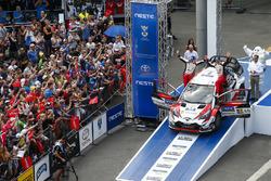 Ganadores Ott Tanak, Martin Järveoja, Toyota Yaris WRC, Toyota Gazoo Racing