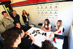Tatiana Calderon, Alfa Romeo Sauber F1 Team Test Driver talks with the media