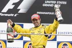 Tiago Monteiro, Jordan Toyota EJ15 on the podium